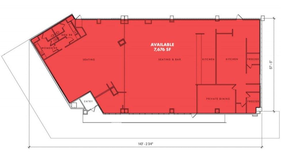 Suite 1st floor partial / 7,676 SF/ Negotiable