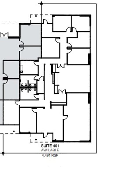 Suite 401 / 4,501 SF/ $5,322