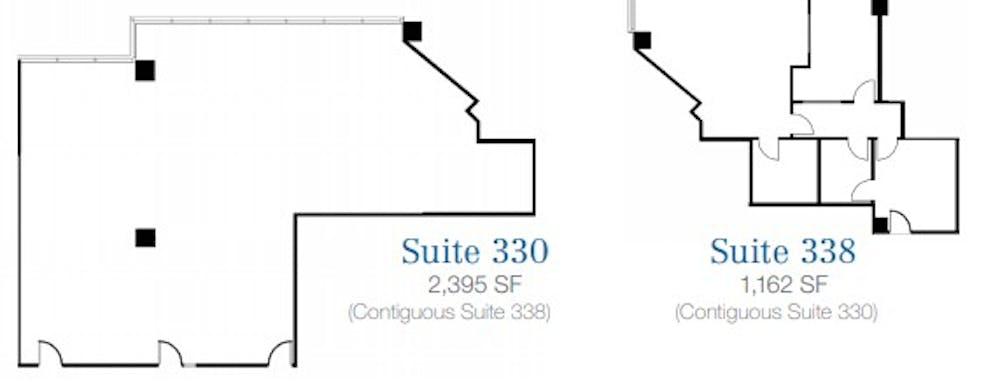 Suite 330/338 / 3,557 SF/ $6,966 + Electricity