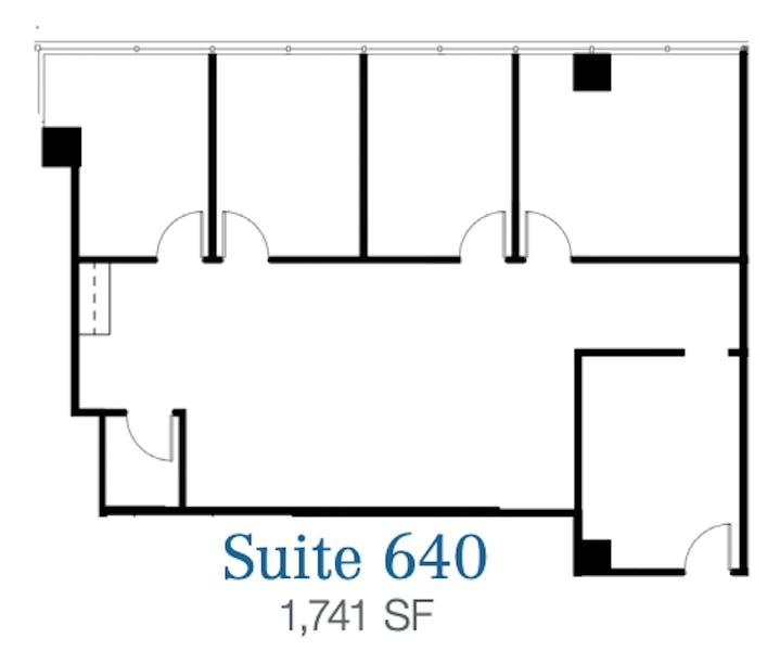 Suite 640 / 1,741 SF/ $3,409 + Electricity