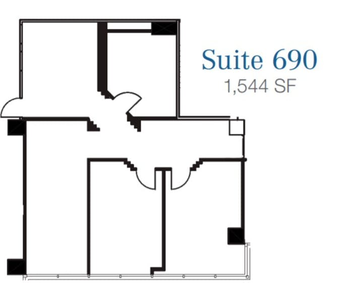Suite 690 / 1,544 SF/ $3,024 + Electricity