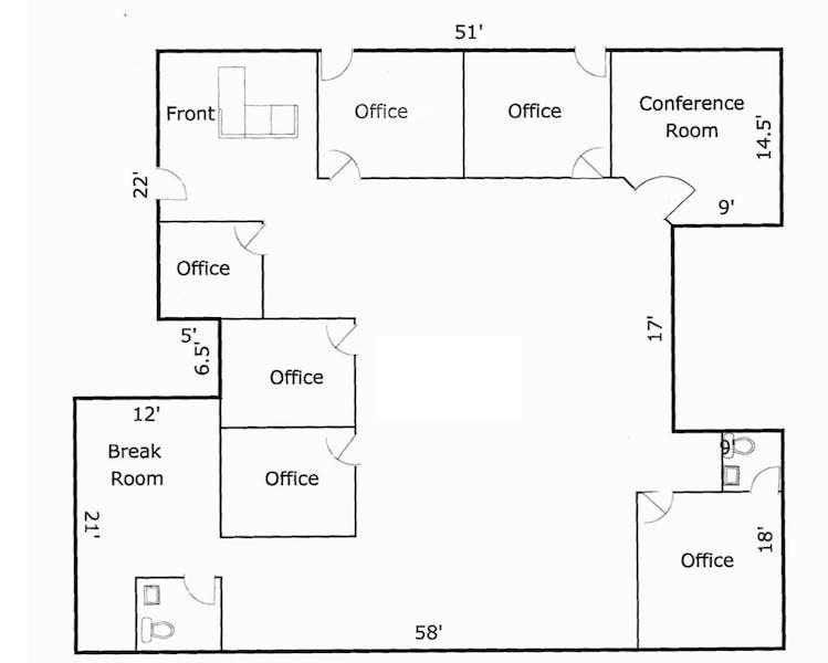 Suite 103 / 2,500 SF/ $3,958