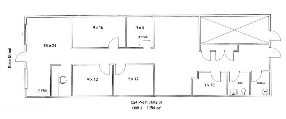 Suite 1 / 1,754 SF/ $3,508