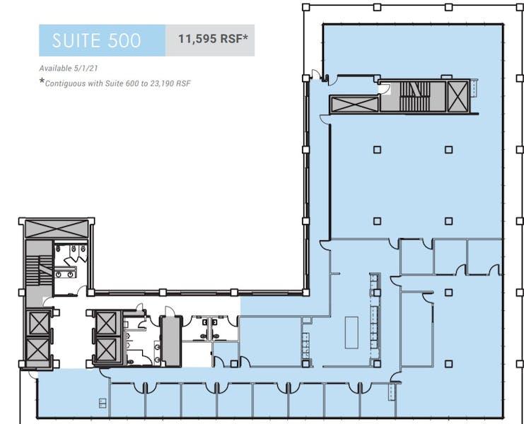 Suite 500 / 11,595 SF/ $61,908