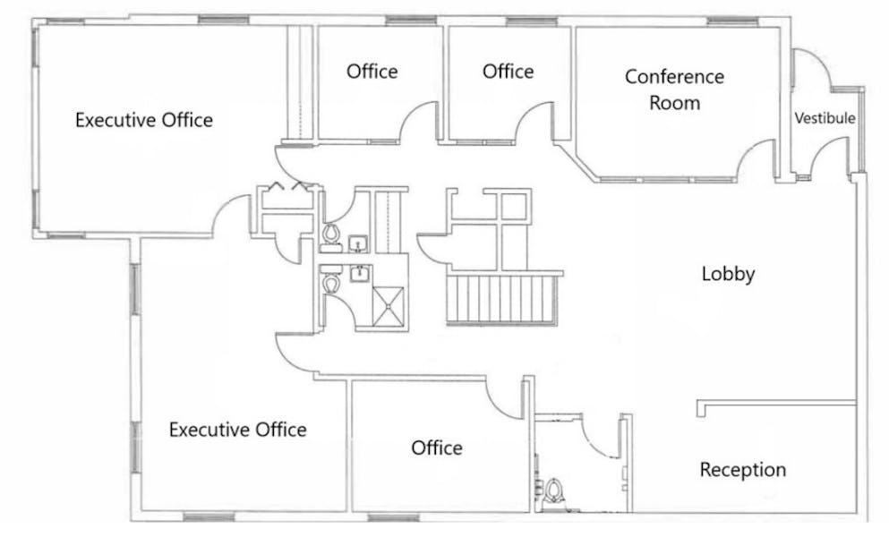 Suite Upper Level / 2,302 SF/ $2,590 + Expenses