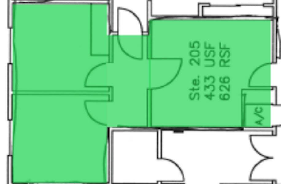 Suite 205 / 664 SF/ $2,214