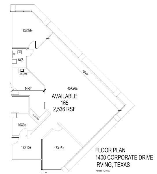 Suite 165 / 2,536 SF/ $3,381 + Electricity