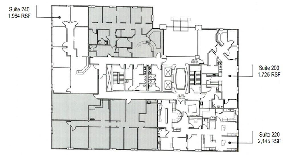 Suite 240 / 2,075 SF/ $4,064 + Expenses
