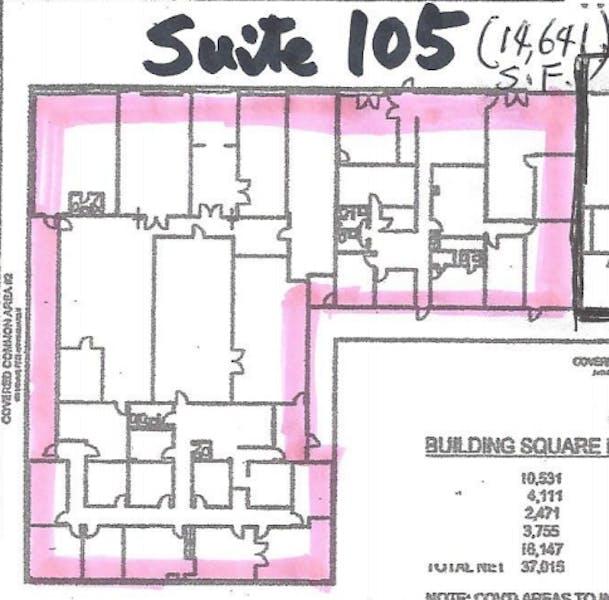 Suite 105 / 14,570 SF/ $7,285 + Expenses