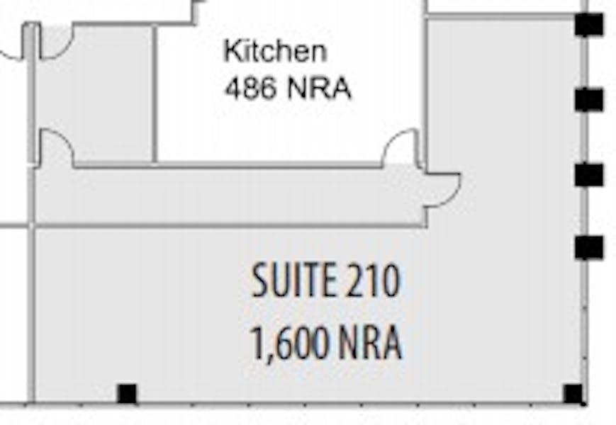 Suite 210 / 1,600 SF/ $2,200