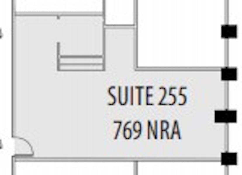 Suite 255 / 769 SF/ $1,057