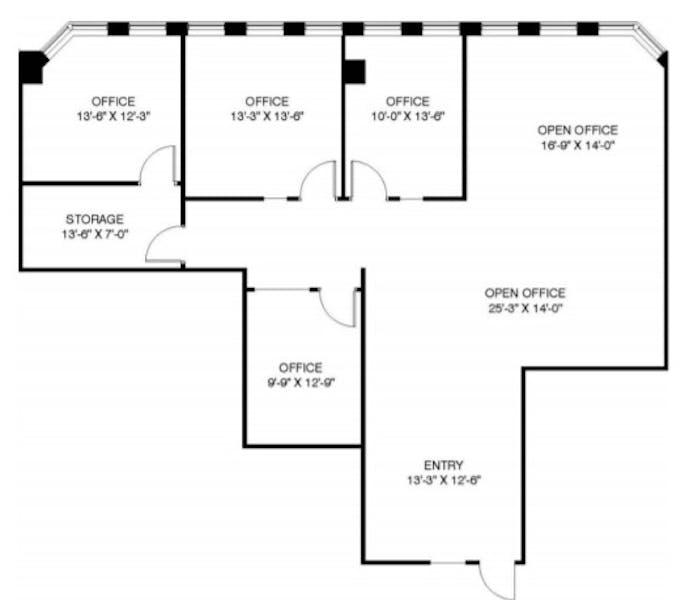 Suite 1405 / 2,017 SF/ $7,214