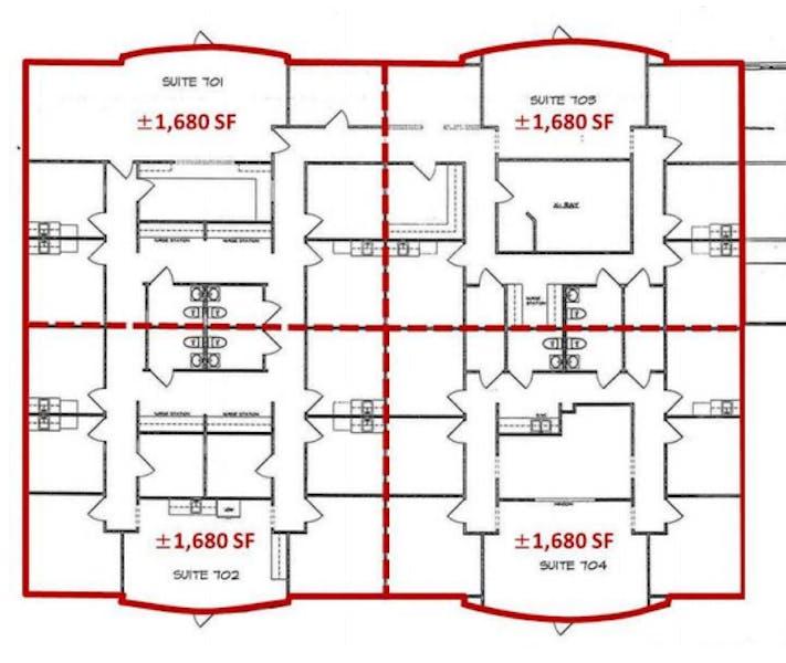 Suite 703 / 1,709 SF/ $3,418 + Expenses