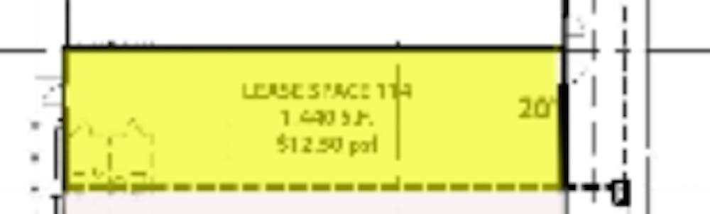 Suite B #114 / 1,440 SF/ $2,160