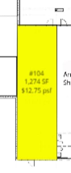 Suite D #104 / 1,274 SF/ $1,938