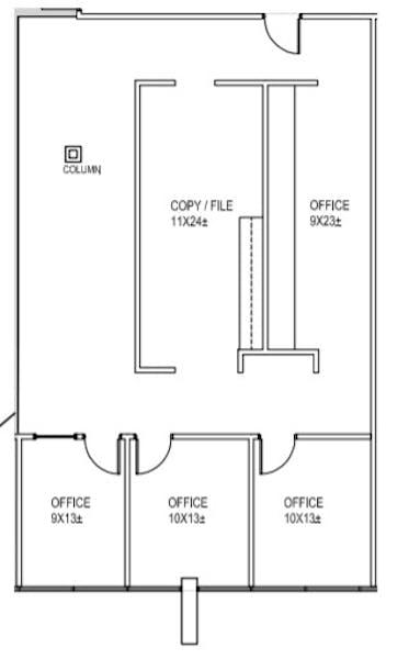 Suite 214A / 1,737 SF/ $2,461 + Electricity