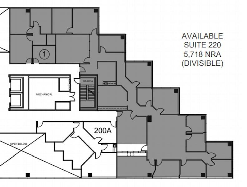 Suite 220 / 5,718 SF/ $11,436