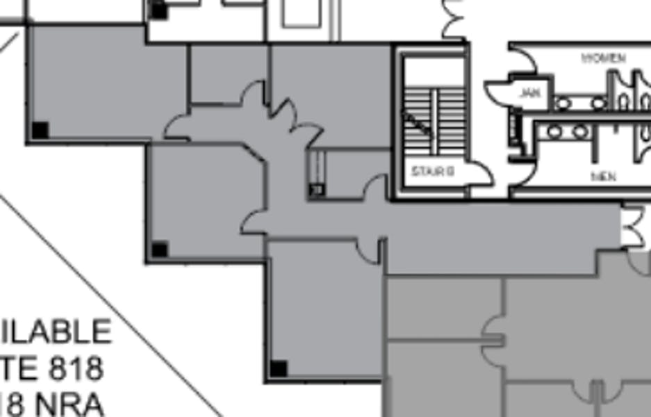 Suite 818 / 1,918 SF/ $3,836