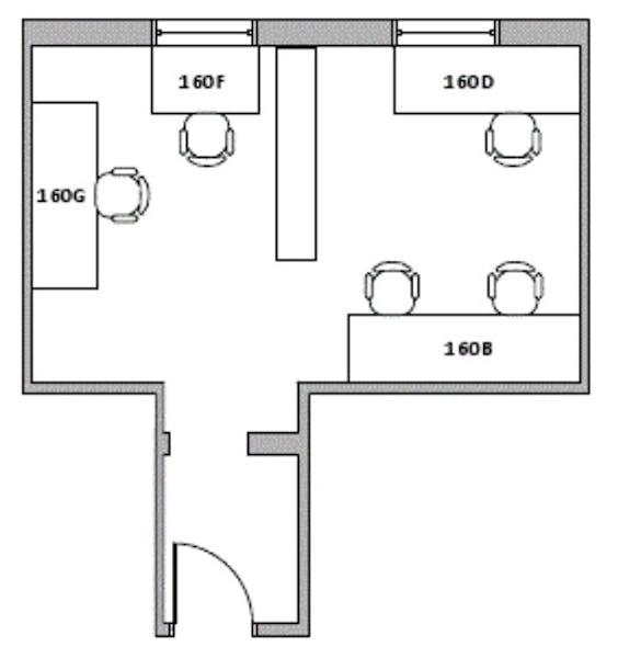 Suite 160F / 95 SF/ $206 + Expenses