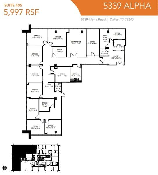 Suite 405 / 5,997 SF/ $8,996