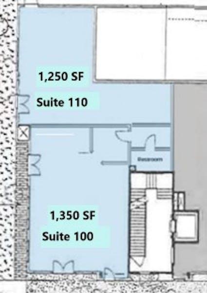 Suite 100/110 / 2,600 SF/ $4,333 + Expenses