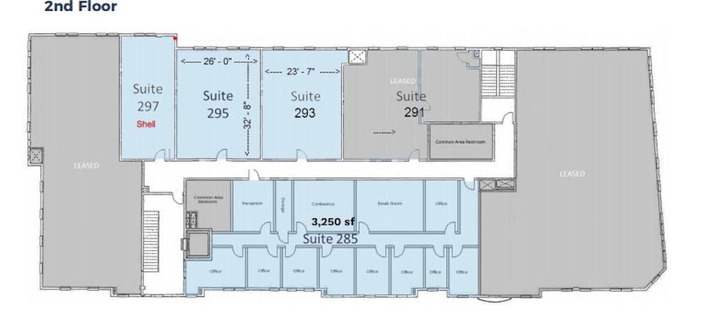 Suite 297 / 762 SF/ $1,270 + Expenses