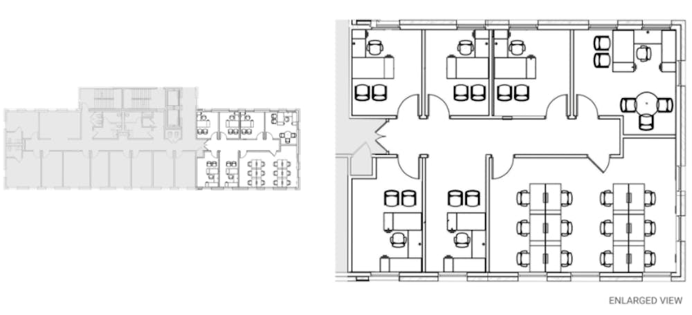 Suite Private Wing / 2,500 SF/ $4,750