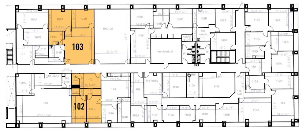 Suite 103 / 1,140 SF/ $1,520