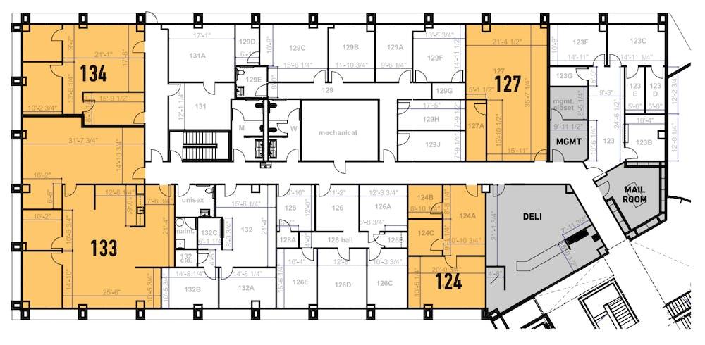 Suite 124 / 738 SF/ $984