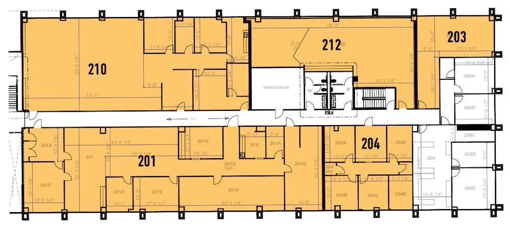 Suite 210 / 3,517 SF/ $4,689