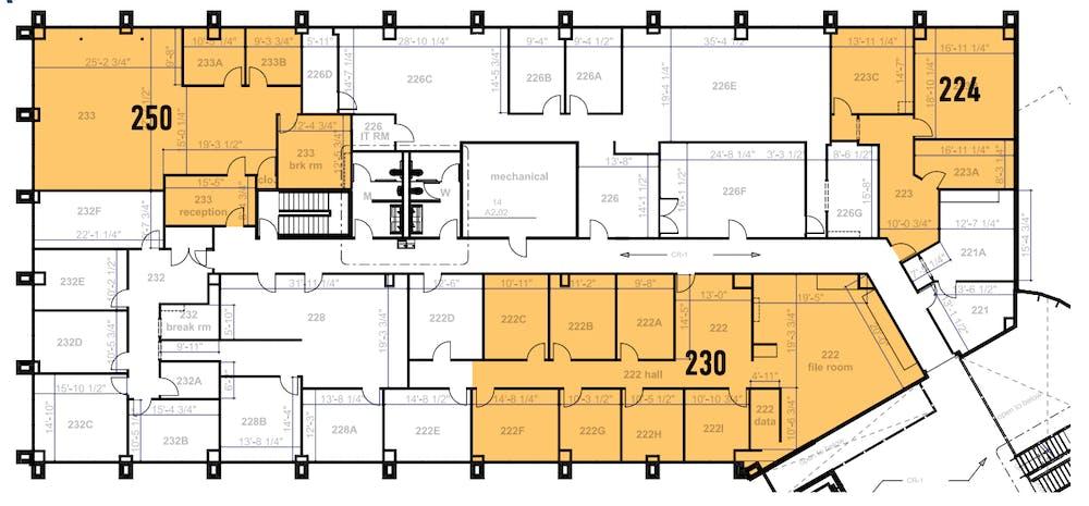 Suite 230 / 2,458 SF/ $3,277