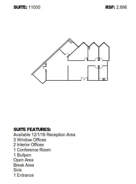 Suite 14250 / 2,246 SF/ $3,182 + Electricity