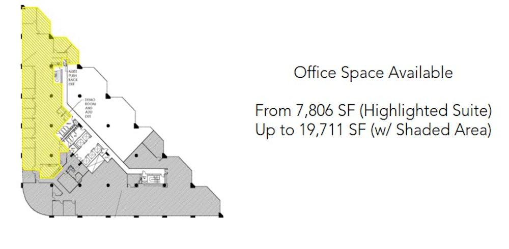 Suite SUBLEASE thru 08/31/21 - 5th floor partial / 19,711 SF/ $32,852 + Electricity