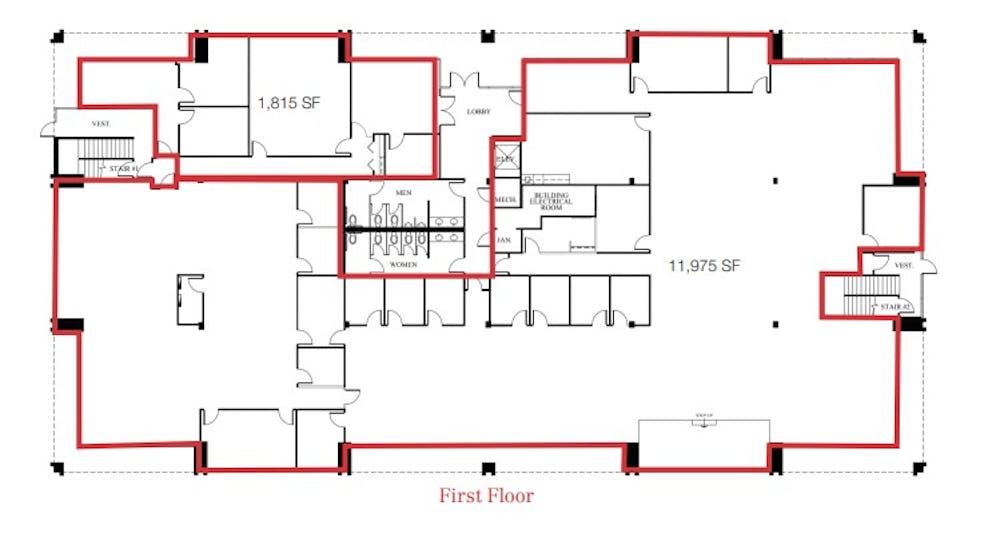 Suite 100 / 13,790 SF/ $18,961 + Electricity