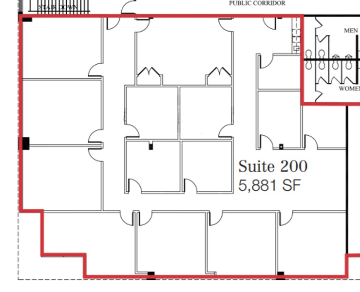Suite 200 / 5,881 SF/ Negotiable