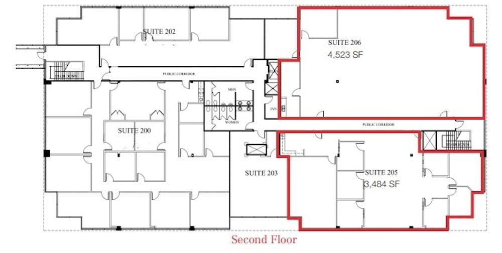 Suite 205 / 3,484 SF/ $4,791 + Electricity