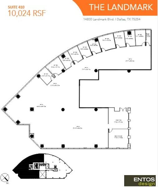 Suite 410 / 10,024 SF/ $18,377 + Electricity