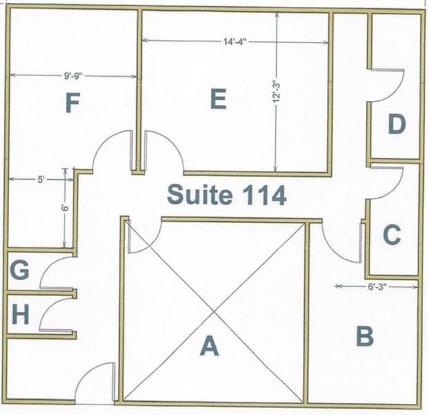 Suite 114H / 25 SF/ $50