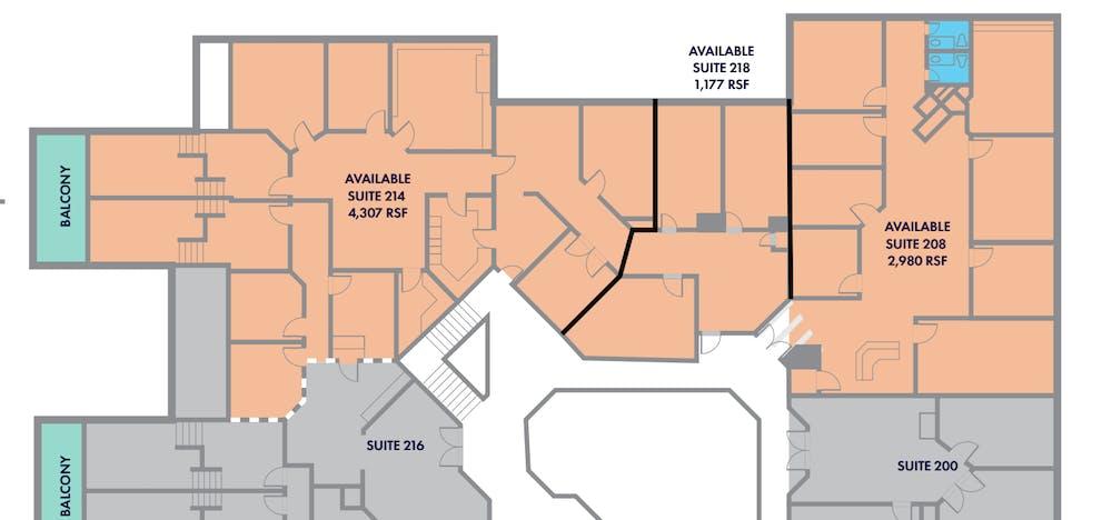 Suite 214 / 4,307 SF/ $5,743
