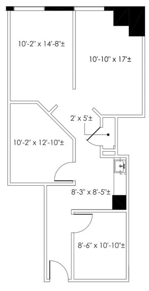 Suite 210 / 600 SF/ $1,850