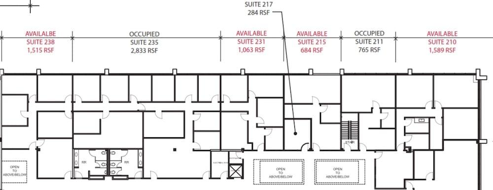 Suite 215 / 4,815 SF/ $6,019 + Electricity