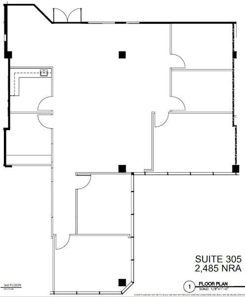 Suite 305 / 2,485 SF/ $3,624