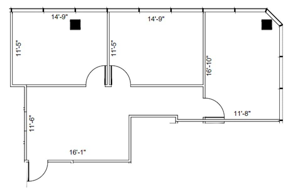 Suite 620 / 1,038 SF/ $1,514